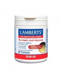 Lamberts Turmeric Fast Release Συμπλήρωμα Διατροφής Από Κουρκουμίνη 8548 60Tabs