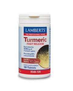 Lamberts Turmeric Fast Release Κουρκουμίνη Αντιοξειδωτικό & Αντιφλεγμονώδες Για Μυοσκελετικά & Αρθριτικά Προβλήματα 8548 120Tabs