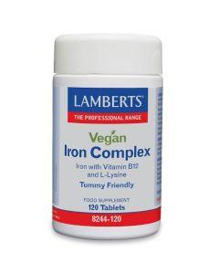 Lamberts Vegan Iron Complex Φόρμουλα Σιδήρου & Β12 Για Χορτοφάγους 120 Ταμπλέτες