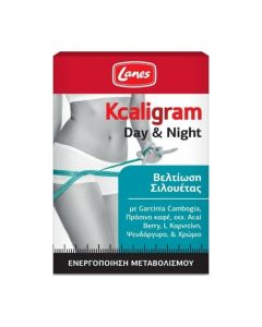 Lanes Kcaligram Day & Night Συμπλήρωμα Διατροφής Για Το Αδυνάτισμα 60 ταμπλέτες