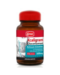 Lanes Kcaligram Glucomannan Βελτίωση Σιλουέτας 500mg 60 Φυτικές Κάψουλες