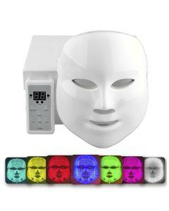 LED Beauty Mask Μάσκα Φωτοθεραπείας & Αναζωογόνησης Προσώπου Με 150 Λυχνίες Led 7 Χρωμάτων 1τμχ