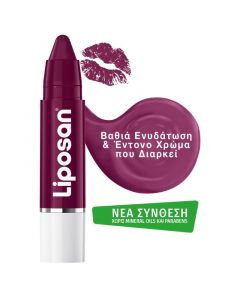 Liposan Crayons Lipstick Black Cherry Ενυδατικό Κραγιόν Βυσσινί 3Gr