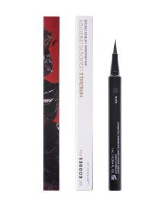 Korres Minerals Liquid Eyeliner Αδιάβροχο Σε Μαύρο Χρώμα Σε Μορφή Στυλό 1ml