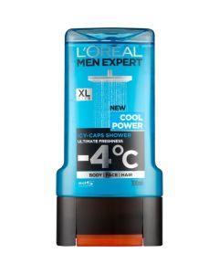 L' oreal Paris Men Expert Cool Power -4°C Ανδρικό Αφρόλουτρο Για Πρόσωπο, Σώμα & Μαλλιά 300ml