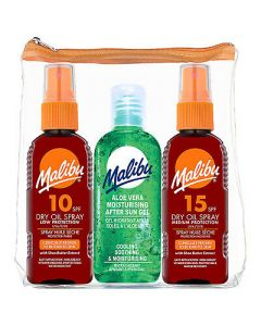 Malibu 3 Pack Ξηρό Λάδι Spray Spf 10, Spf 15 & After Sun 100ml