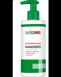 Medi+Swiss Υγρό Σαπούνι Χεριών Με Ουδέτερο Ph & Γλυκερίνη 250ml