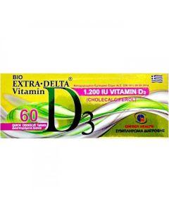 Medichrom Bio Extra Delta Vitamin D3 1200IU Συμπλήρωμα Με Βιταμίνη D3 60 Διασπειρόμενα Δισκία