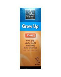 Meke Natural Grow Up Classic Syrup Σιρόπι Μελιού Με Μουρουνέλαιο & Βασιλικό Πολτό 150ml