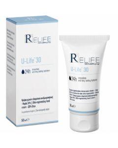Menarini ReLife U-Life 30 24ωρη Ενυδατική Κρέμα Χεριών Με Ουρία 30% 50ml