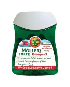 Moller's Forte Μουρουνέλαιο Μίγμα Ιχθυελαίου &  Μουρουνελαίου Πλούσιο Σε Ω3 Λιπαρά Οξέα 60 Caps