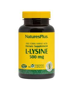 Natures Plus Free Form Amino Acid L-Lysine 500mg Συμπλήρωμα Με Αμινοξύ Λυσίνη 90 Caps