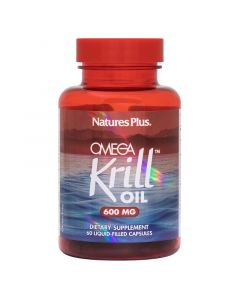 Natures Plus Omega Krill Oil 600mg Ωμέγα 3 Από Έλαιο Κριλ 60 Caps