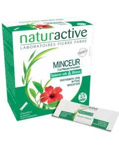 Naturactive Minceur Συμπλήρωμα Διατροφής Με Πράσινο Τσάι & Ιβίσκο 15 Φακελίσκοι + 5 Δώρο