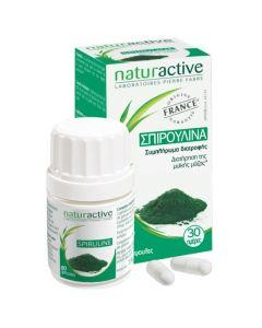 Naturactive Σπιρουλίνα Συμπλήρωμα Για Τη Διατήρηση Της Μυϊκής Μάζας 60 Κάψουλες