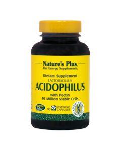 Natures Plus Acidophilus Προβιοτικά - Υγεία Εντερικού Συστήματος 90 Φυτικές Κάψουλες