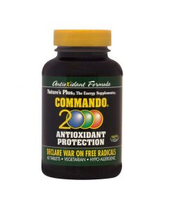Natures Plus Commando 2000 Αντιοξειδωτική Προστασία 60 Ταμπλέτες