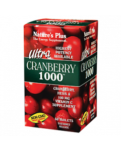 Natures Plus Cranberry Ultra 1000MG 60 Ταμπλέτες