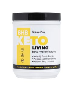 Natures Plus Keto Living BHB Μείγμα Κετόνων Με Γεύση Λεμονάδα 210gr