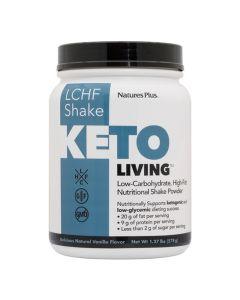Natures Plus Keto Living LCHF Shake Vanilla Συμπλήρωμα Διατροφής Για Κετογονική Διατροφή Με Γεύση Βανίλια 578gr