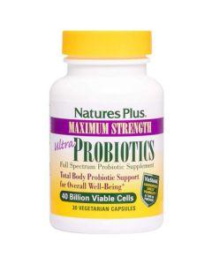Natures Plus Ultra Probiotics Προβιοτικό 30 Φυτικές Κάψουλες