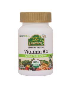 Natures Plus Garden Vitamin K2 60 Φυτικές Κάψουλες
