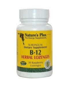 Nature's Plus Vitamin B-12 1000mcg 30 Rasberry Lozenges