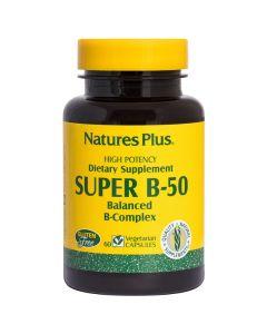 Nature's Plus Vitamin Super Β-50 Σύμπλεγμα Βιταμινών Β - Υγιές Νευρικό Σύστημα 60 Ταμπλέτες