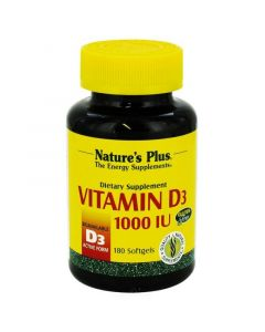 Natures Plus Vitamin D3 1000 IU 25mcg Βιταμίνη D3 180 softgels