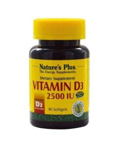 Natures Plus Vitamin D3 2500IU Βιταμίνη D3 90 Μαλακές Κάψουλες
