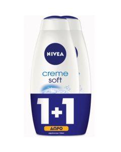 Nivea Πακέτο Promo Set Creme Soft Σετ 1+1 Δώρο Αναζωογονητικό Κρεμώδες Αφρόλουτρο 2x750ml