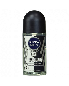 Nivea Men Invisible for Black & White Αποσμητικό Roll On 48h 50ml