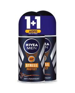 Nivea Men Πακέτο Promo Set Stress Protect Σετ 1+1 Δώρο Ανδρικό Αποσμητικό Roll On 2x50ml