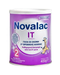 Novalac IT 2 Από 6Μ+ Γάλα Σε Σκόνη Κατάλληλο Για Την Αντιμετώπιση Της Δυσκοιλιότητας 400gr