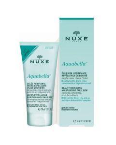 Nuxe Πακέτο Promo Set Aquabella Moisturising Emulsion Σετ Ενυδατική Κρέμα Προσώπου 50ml & Micro-Exfoliating Purifying Καθαριστικό Gel 30ml