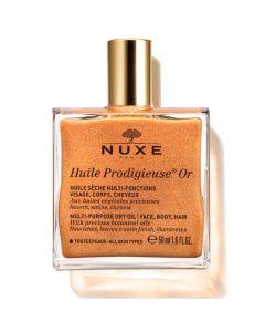 Nuxe Huile Prodigieuse Ιριδίζον Ξηρό Λάδι Για Πρόσωπο Σώμα Μαλλιά 50ml