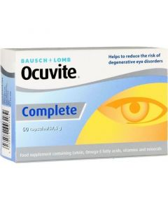 Bausch & Lomb Ocuvite Complete Συμπλήρωμα Διατροφής Για Την Καλή Υγεία & Προστασία Των Ματιών 60tabs