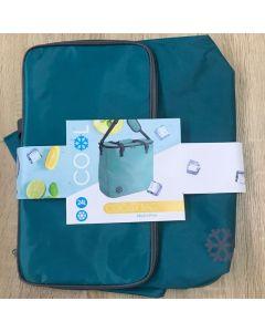 OEM Cooler Bag Ισοθερμική Τσάντα Ψυγείο 24L 38x21x37cm Πετρόλ 1τμχ