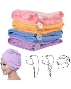 Oem Hair Wrap Microfiber Πετσέτα Για Γρήγορο Στέγνωμα Μαλλιών Σε 4 Χρώματα