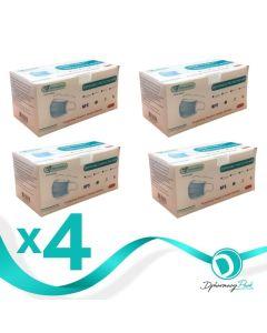 Πακέτο Μάσκες Προστασίας Μιας Χρήσης Non Medical Disposable 3-Layer CE Πιστοποίηση & Ειδικό Έλασμα 4x50τμχ