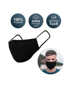 Oem Μάσκα Προστασίας Υφασμάτινη Μαύρη 1τμχ