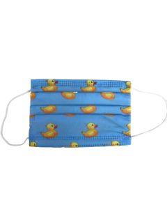 OEM Παιδική Χειρουργική Μάσκα Προσώπου (6-9 ετών) 3ply CE - EN-14683  Με Σχέδιο Παπάκι Μπλε 5 Τμχ