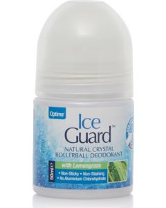 Optima Ice Guard Natural Crystal Deo Lemongras Αποσμητικό σε Roll On με Άρωμα Λεμονόχορτο 50ml