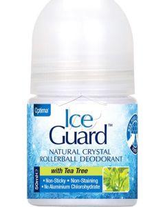 Optima Ice Guard Rollerball Tea Tree Αποσμητικό σε Roll On με Άρωμα Τεϊόδεντρο 50ml