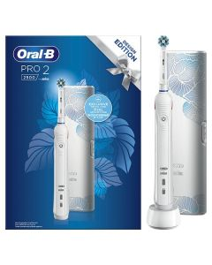 Oral-B Ηλεκτρική Οδοντόβουρτσα Pro 2 2500 White Design Edition & Δώρο Θήκη Ταξιδίου 1τμχ