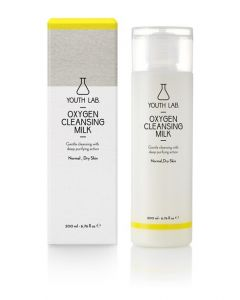 Youth Lab Oxygen Cleansing Milk Απαλό Καθαριστικό για Κανονικό και Ξηρό Δέρμα 200ml