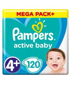 Pampers Active Baby Mega Pack No 4+ (10-15kg) 120 Πάνες