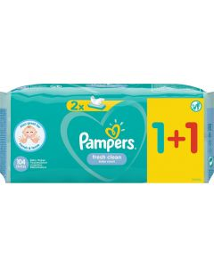 Pampers Σετ Fresh Clean Wipes Μωρομάντηλα 1+1 ΔΩΡΟ 52τμχ