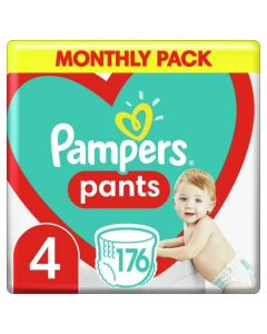 Pampers Pants Βρεφικές Πάνες Βρακάκι No 4 (9-15kg) Monthly Pack 176τμχ
