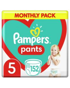 Pampers Pants Βρεφικές Πάνες Βρακάκι No 5 (12-17kg) Monthly Pack 152τμχ